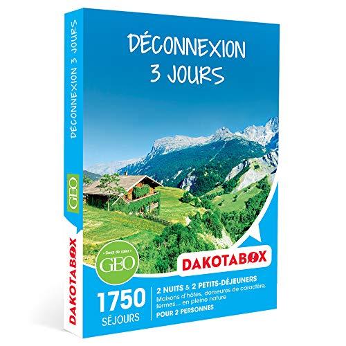 DAKOTABOX - Déconnexion 3 jours - Coffret Cadeau Séjour - 2 nuits avec...