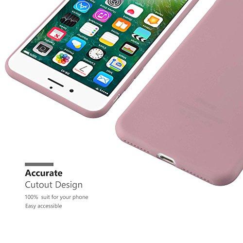 Cadorabo - TPU Ultra Slim Candy Silikon Hülle Case Cover Schutz-Hülle für >                Apple iPhone 8 PLUS / 7 PLUS / 7S PLUS                < in CANDY-ROSA CANDY-ROSA