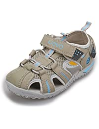DUORO Jungen Sommer Strand Sandalen Kinder Sandalen Leder Schuhe Casual Sport Outdoor Wanderschuhe