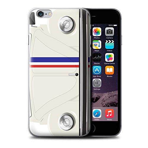 Coque de Stuff4 / Coque pour Apple iPhone 6 / Marina Bleu Design / Rétro Coccinelle Collection Rayures Course