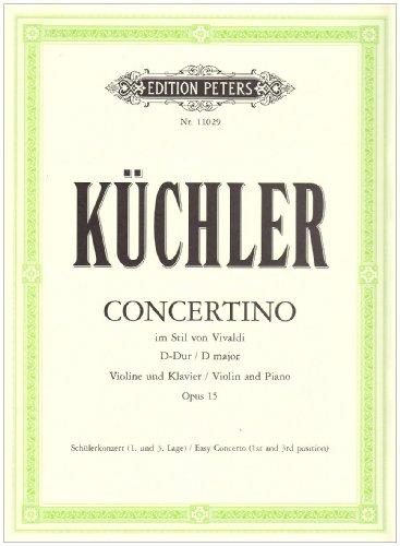 Concertino d-Dur Op.15 Violon