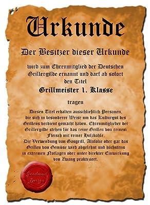 Sexy Grillschürze ! Top Scherzartikel zum Geburtstag, für Partys, Karneval,...: Prätorianer !! GRATIS Urkunde dabei !!