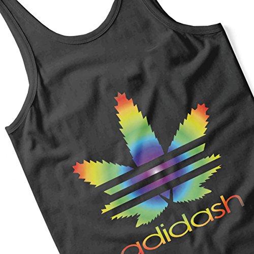 Adidash Marijuana Leaf Rainbow Adidas Men's Vest Black