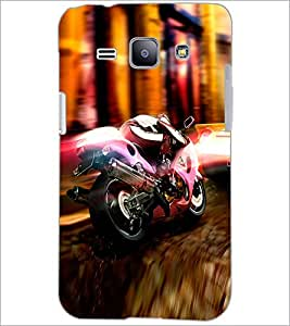 PrintDhaba Bike D-2976 Back Case Cover for SAMSUNG GALAXY J1 (Multi-Coloured)