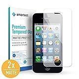 smartect Mattes Panzerglas kompatibel mit iPhone 4 / 4s [2X MATT] - Displayschutz mit 9H Härte - Blasenfreie Schutzfolie - Anti Fingerprint Panzerglasfolie