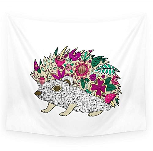 zhlxc Woodland Hedgehog Illustration Wandteppich Wandbehang Decke Wohnheim Home Decor Sofa Abdeckung - Tiere Schal Woodland