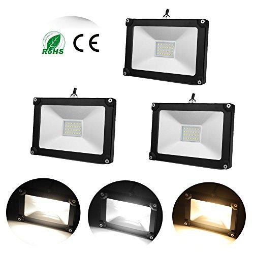 3 Stü LED Fluter DM Spot 20W 1600lm SMD 2835 LED Flutlichtstrahler in tageslichtweiß 4000K Scheinwerfer Außenstahler Flutlicht Spotlight IP65 Wasserdicht Außen LED Arbeitsleuchten wie 200W Leuchtkraft von Halogenleuchtmittel