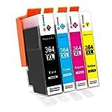 GPC Image Kompatibel Druckerpatronen Ersatz für HP 364 364XL 4 Pack für HP Deskject 3070A Photosmart 5510 5520 5522 5524 6510 6520 7510 7520 5515 b110a b109a c310a 5512 6512 b209a Officejet 4620 4622