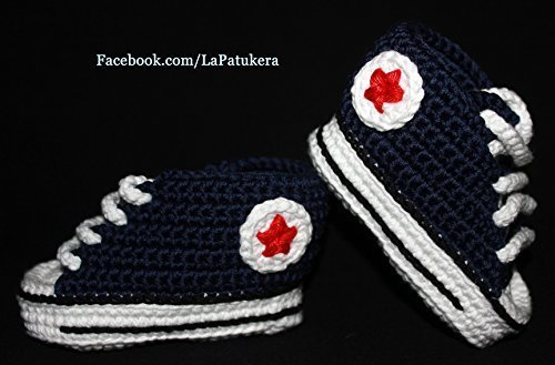 patucos-para-bebe-de-crochet-unisex-estilo-converse-all-star-de-color-azul-marino-100-algodon-tallas
