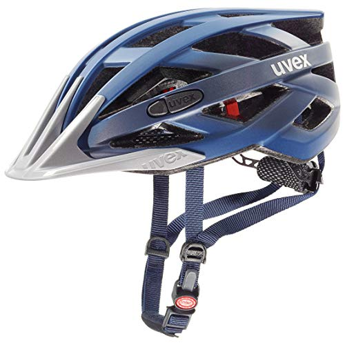 uvex Unisex- Erwachsene i-vo cc Fahrradhelm, darkblue metallic, 52-57 cm