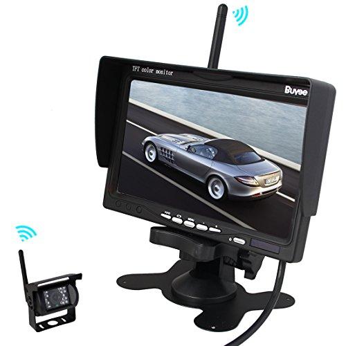 Pathson Auto Rückfahrkamera Infrarot-Nachtsicht Rückfahrkamera Rückfahrsystem (c.1 Kamera +7 Zoll Monitor)