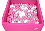 Cristal Bällebad Bällepool Bällebecken Spielbälle Kugelbad Bällchenbad Spielbecken Golden Kids Ball Bällepool TÜV zertifiziert (120x120x40 ohne Bälle, Pink)