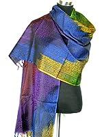 Lovarzi Women's Silk Scarf - Luxurious Rainbow Paisley Silk Scarves