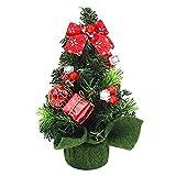 TOOGOO(R) Mini Piccolo Albero Artificiale Di Natale Alberi Decorativi per Interni Decorazione 20 CM (Rosso)