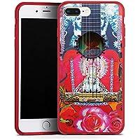 Apple iPhone 8 Plus Silikon Hülle Case Schutzhülle Gitarre Rot Red