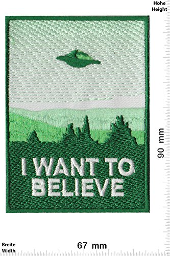 6447cb27a840 Parches - I Want to Believe - UFO - Alien -Fun - Alien - Parche  Termoadhesivos Bordado Apliques - Patch