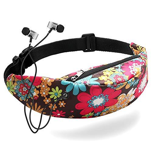 Unsex Sport Gürtel Tasche, 15 Farben Wasserdicht Reise Fanny Pack Handy,Multi-Pocket Segeltuch Schulter Tasche Geldbörse Reise Reisepass Tasche