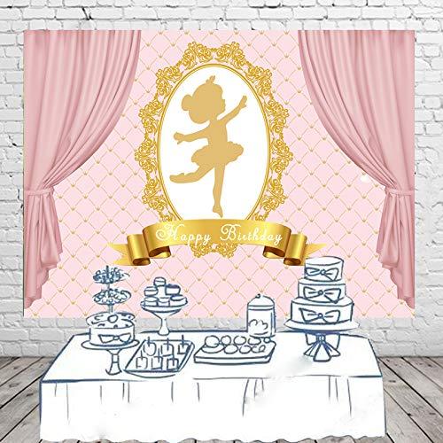 (HUAYI Happy Birthday Party-Hintergrund 17,8 x 152 cm Fotografie-Hintergrund Tisch Dessert Banner Party Dekorationen)