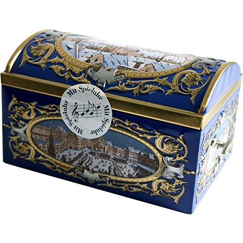 Wicklein Nürnberger Elise-Lebkuchen in Nostalgieschatulle und mit Spieluhr (300g Dose)
