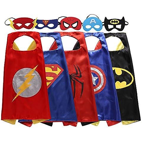 Costumes Kid Boy Halloween - Zaleny Superhero Déguisement 5satiné capes avec feutre