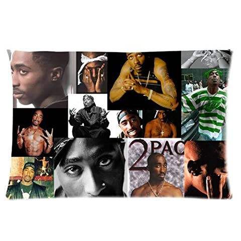 Generic Personalized Hip-Hop Music Rap Singer 2Pac Makaveli Tupac Amaru Shakur Jigsaw Series Great Design Sold By Too Amazing Rectangle Pillowcase 24x16 inches (one side)