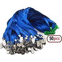 50pcs nylon cordón Clip soporte de correa con Clip de placa de 32pulgadas cuello Cordón para tarjetas de identificación/insignias