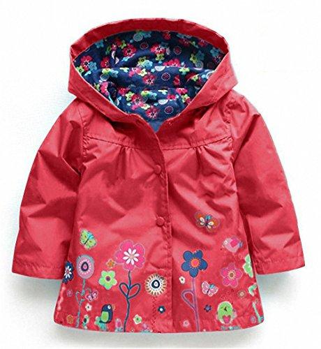 Kids Girl Baby Waterproof Hooded Coat Costume Outwear Raincoat Autumn Waterproof Windbreaker Jackets