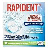 Rapident - Compresse, Per la pulizia di Protesi e Dentiere - 32 Compresse