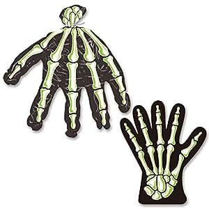Pack de 24 lots de 10 sachets main de squelette avec attaches