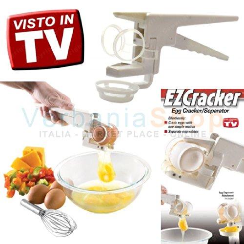 EZ CRACKER - Cascador de huevos y separador de clara y yema con pinza