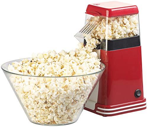 Rosenstein & Söhne Popcorn Maker: XL-Heißluft-Popcorn-Maschine für bis zu 100 g Mais, 1.200 Watt (Popcornmaschine Heißluft)