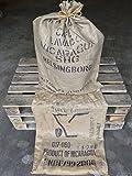Jutesack - Kaffeesack - Nusssack - gebraucht - Deko - ca. 70x100cm dichtes, starkes Gewebe