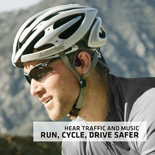 Aftershokz trekz Titanium Bone Conduction Kopfhörer Audio Bluetooth Bone Conduction für Sport mit Mikrofon - 5