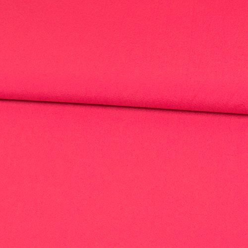 Stoffe Werning Viskosestoff Crash Optik Uni pink Modestoffe Bekleidungsstoffe einfarbig Crashoptik - Preis Gilt für 0,5 Meter