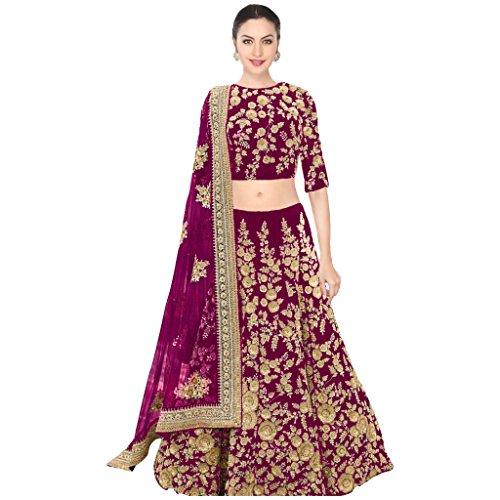 MEGHALYA-Purple-Color-Fancy-Beautiful-Embroidered-Velvet-Dori-Work-SemiStiched-Dulhan-Lehenga-Choli-For-Women-Bridal-Lehenga-Wedding-Special