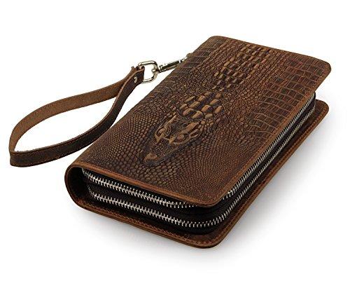 ROOGU The Deal in Florida * Clutch Geldbörse Echtleder Tasche Alligator Krokodil Handmade -