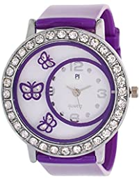 Swadesi Stuff New Arrival Cute Butterfly Purple Stylish Analog Watch - For Girls & Women