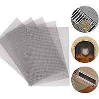 5 piezas de malla de alambre tejida de acero inoxidable con cubierta de drenaje de malla de metal a prueba de roedores, agujero de 1 mm, ideal para ladrillos a4, ventanas, puerta, filtro (21 x 30 cm)