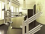 Design Badheizkörper NERISSA 1000 x 500 mm. Chrom Badheizkörper Handtuchtrockner