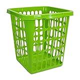 Wäschekorb Wäschesammler Wäschetruhe Wäschetonne Sammelbehälter Aufbewahrung (Wäschekorb 40L eckig grün - 22301)