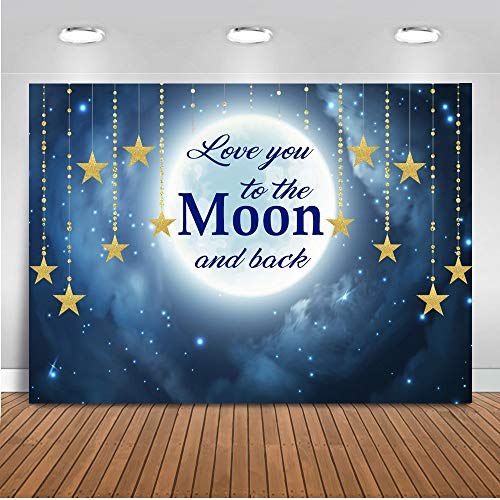 Mehofoto liebe dich bis zum Mond und zurück Kulisse 7x5ft Babyparty Neugeborenes Baby Twinkle Twinkle Little Star Foto Backdrops Happy Birthday Fotografie Hintergrund