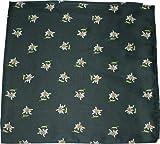Halstuch Trachtentuch mit Edelweissmuster nikituch 60x60cm grün