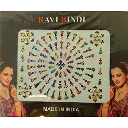 Bindis 96 Stück Stirnschmuck Kärtchen Karte selbstklebend Bollywood Schmuck Indien Hinduismus