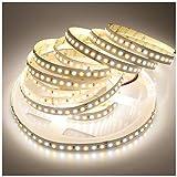 LTRGBW Superhelles wasserdichtes 2835 SMD 24V 600leds zweifarbiges doppeltes weißes warmes kaltes kühles Farben-justierbares flexibles LED-Streifen-Licht für Hauptküche-Beleuchtung und Weihnachtsfunken-Lampen 16.4ft (5m)