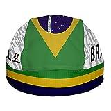 Brasil Flag Pañuelo Bandana Skullcap para la Cabeza