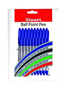 Luxor Spark-II Ball Point Pen - Set of 20, Blue ink