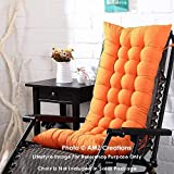 AMZ Premium Microfibre Soft Home Cotton Cushion Long Chair Pad Cushion for Indoor/Outdoor Dining Home Garden Decor (Orange,48 x 16 inches,Set of 1)