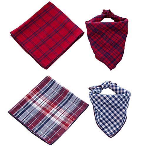 SCENEREAL CO. Bandana para perro, bufanda roja y azul para perros pequeños,...