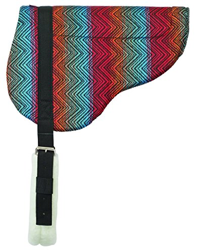 Weaver Herculon Bareback Pad aus Leder mit Tacky-Tack unten, rot, 21