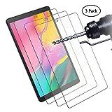 Didisky Panzerglas Hartglas Displayschutzfolie für Samsung Galaxy Tab A 10.1 2019 T515/T510, [ 3er Pack ] Kratzfest, 9H Härte, Keine Blasen, High Definition, Einfach anzuwenden, Fall-freundlich